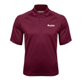 Maroon Textured Saddle Shoulder Polo-Airbus Helicopters
