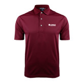 Maroon Dry Mesh Polo-Airbus Helicopters