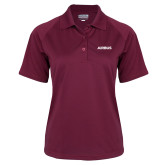 Ladies Maroon Textured Saddle Shoulder Polo-Airbus