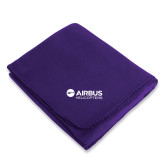 Purple Arctic Fleece Blanket-Airbus Helicopters