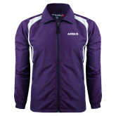 Colorblock Purple/White Wind Jacket-Airbus