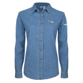 Ladies Denim Long Sleeve Shirt-H135 Craft