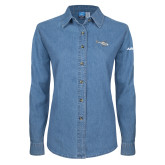 Ladies Denim Long Sleeve Shirt-H120 Craft