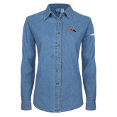 Ladies Denim Long Sleeve Shirt-USCG MH65 Craft