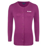 Ladies Deep Berry Cardigan-Airbus Helicopters