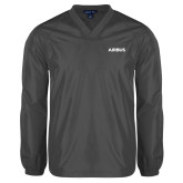V Neck Charcoal Raglan Windshirt-Airbus