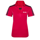 Ladies Raspberry/Charcoal Performance Color Block Polo-Airbus Helicopters
