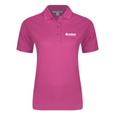 Ladies Easycare Tropical Pink Pique Polo-Airbus Helicopters