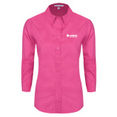 Ladies Tropical Pink Long Sleeve Twill Shirt-Airbus Helicopters