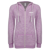ENZA Ladies Hot Violet Marled Full Zip Hoodie-Airbus