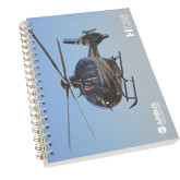 Clear 7 x 10 Spiral Journal Notebook-H135 In Sky