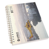Clear 7 x 10 Spiral Journal Notebook-H175 Over City Shore