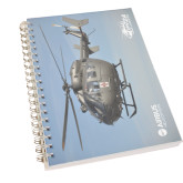 Clear 7 x 10 Spiral Journal Notebook-UH72A In Sky