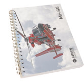 Clear 7 x 10 Spiral Journal Notebook-MH-65 In Clouds