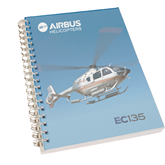 Clear 7 x 10 Spiral Journal Notebook-EC135 In Blue Sky
