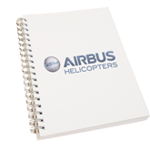 Clear 7 x 10 Spiral Journal Notebook-Airbus Helicopters