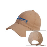 Khaki Twill Unstructured Low Profile Hat-Airbus Helicopters