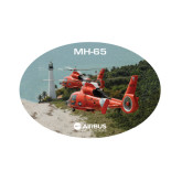 Small Magnet-USCG MH65 Duet Near Ocean, 6 inches wide