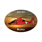 Small Magnet-USCG MH65 In Sunset Over Ocean, 6 inches wide