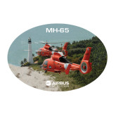 Large Magnet-USCG MH65 Duet Near Ocean, 12 inches wide