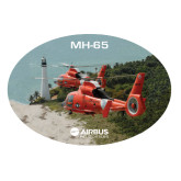 Extra Large Magnet-USCG MH65 Duet Near Ocean, 18 inches wide
