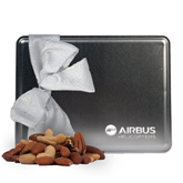 Deluxe Nut Medley Silver Large Tin-Airbus Helicopters Engraved