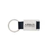 Leather Black Key Holder-Airbus Helicopters Wordmark Engraved