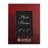 Maroon Brushed Aluminum 3 x 5 Photo Frame-Airbus Helicopters Engraved