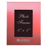 Pink Brushed Aluminum 3 x 5 Photo Frame-Airbus Helicopters Engraved