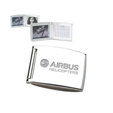 Silver Bifold Frame w/Calendar-Airbus Helicopters Engraved