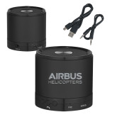 Wireless HD Bluetooth Black Round Speaker-Airbus Helicopters Wordmark Engraved