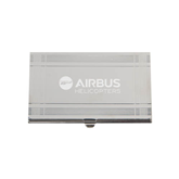 Silver Business Card Holder-Airbus Helicopters Engraved