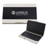 Bey Berk Carbon Fiber Business Card Holder-Airbus Helicopters Engraved