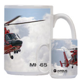 Full Color White Mug 15oz-MH-65 In Clouds