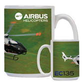 Full Color White Mug 15oz-EC135 Over Green Field
