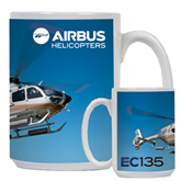 Full Color White Mug 15oz-EC135 In Blue Sky