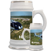 Full Color Decorative Ceramic Mug 22oz-H130 In Front of Mountain