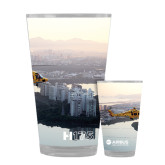 Full Color Glass 17oz-H175 Over City Shore