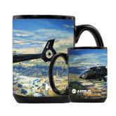 Full Color Black Mug 15oz-H130 Over Mountain Valley