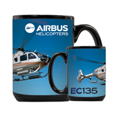 Full Color Black Mug 15oz-EC135 In Blue Sky