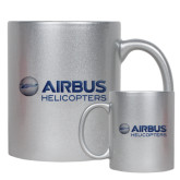 11oz Silver Metallic Ceramic Mug-Airbus Helicopters