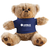 Plush Big Paw 8 1/2 inch Brown Bear w/Navy Shirt-Airbus Helicopters