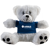Plush Big Paw 8 1/2 inch White Bear w/Navy Shirt-Airbus Helicopters