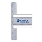 12 Inch Clear Frosted Plastic Ruler-Airbus Helicopters