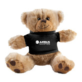 Plush Big Paw 8 1/2 inch Brown Bear w/Black Shirt-Airbus Helicopters