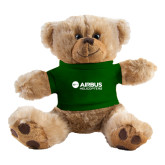 Plush Big Paw 8 1/2 inch Brown Bear w/Dark Green Shirt-Airbus Helicopters