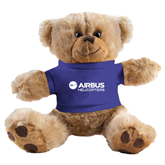 Plush Big Paw 8 1/2 inch Brown Bear w/Royal Shirt-Airbus Helicopters