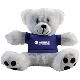 Plush Big Paw 8 1/2 inch White Bear w/Royal Shirt-Airbus Helicopters