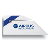 Angled Blue Stripe Letter Opener-Airbus Helicopters