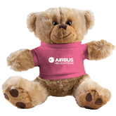 Plush Big Paw 8 1/2 inch Brown Bear w/Pink Shirt-Airbus Helicopters